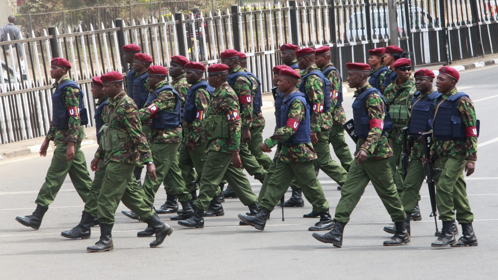 """Kenyan officials deny HRW allegations that security forces have """"forcibly disappeared"""" 34 suspects linked to al-Shabab."""