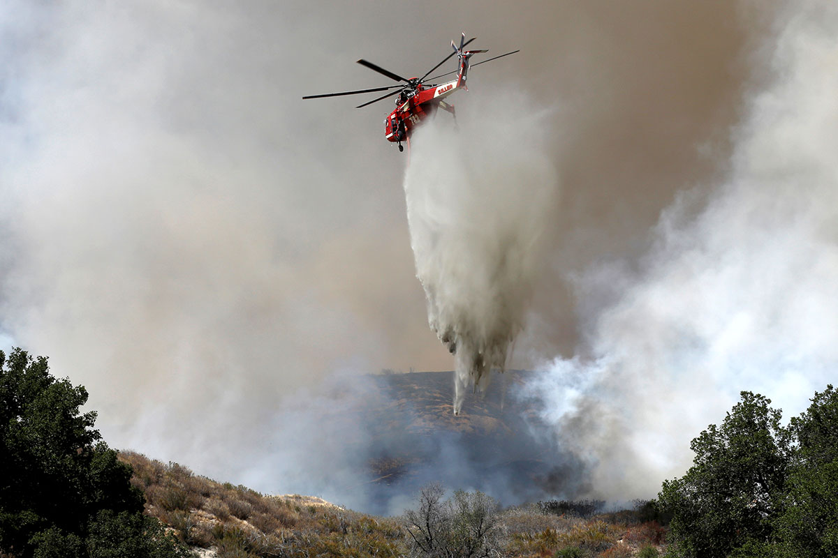 Hundreds Of Homes Threatened By California Wildfires