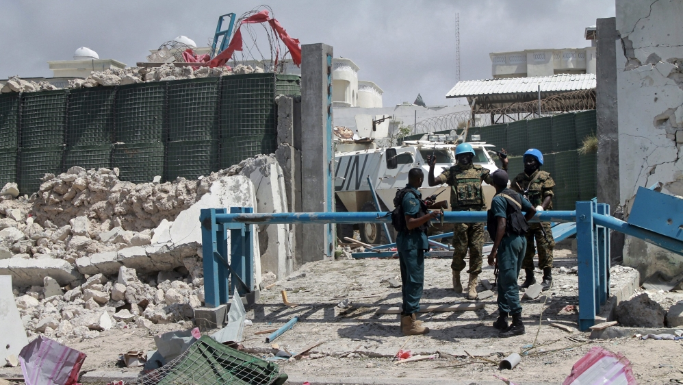 Salah Nuh Ismail and second attacker targeted AU peacekeeping force's main base on Tuesday, killing at least 13 people.