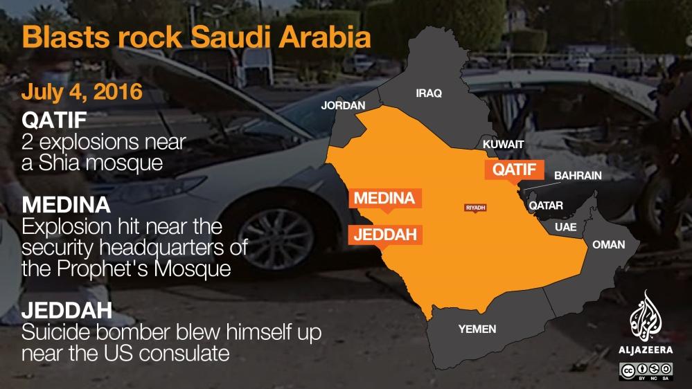 Saudi Arabia: Bombings target Medina and Qatif mosques | News | Al