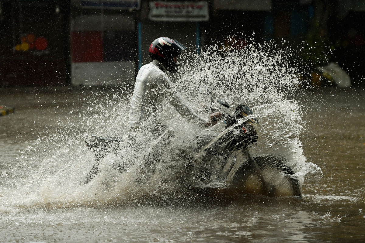 Mumbai has been hit by 156mm of rain in the last 24 hours. [Punit Paranjpe/AFP]