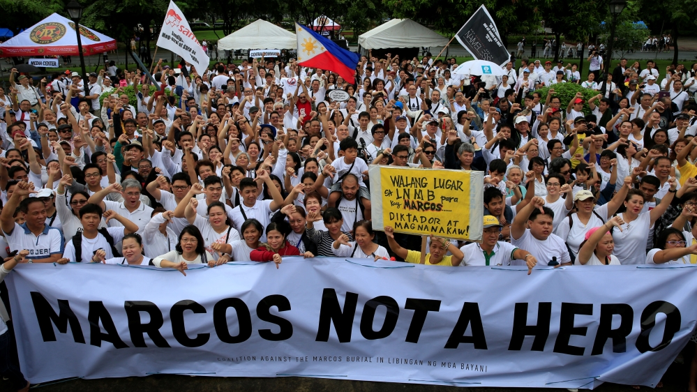 Marcos hero\'s burial plan prompts Philippines protests | Philippines ...