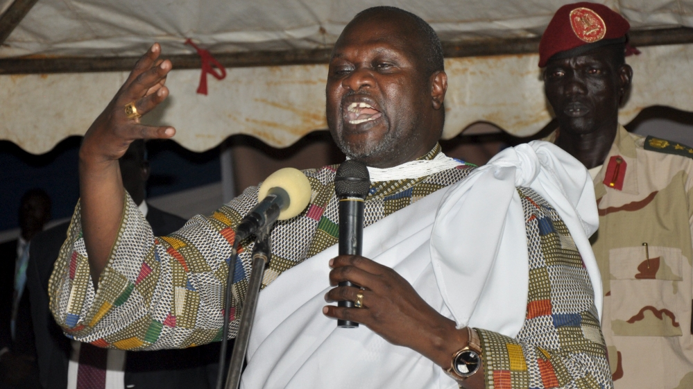 South Sudan opposition leader will remain in Sudan's capital for medical treatment, the Sudanese government says.