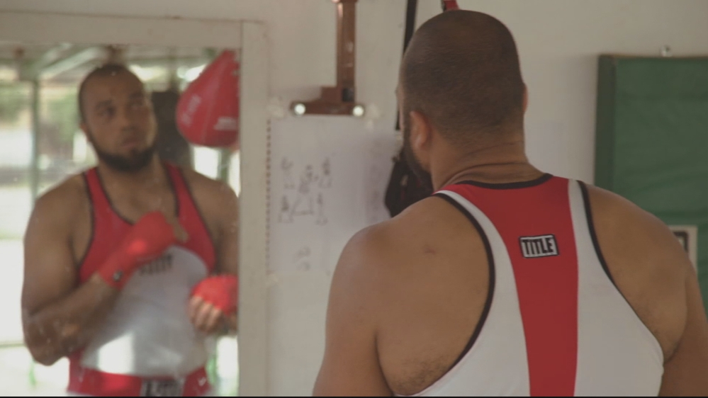Navy cook turned boxer Davilson Morais is one of only three super heavyweight boxers from the continent at the Games.