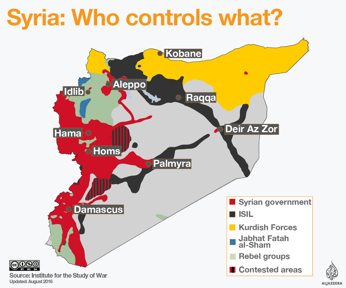 Syria civil war map