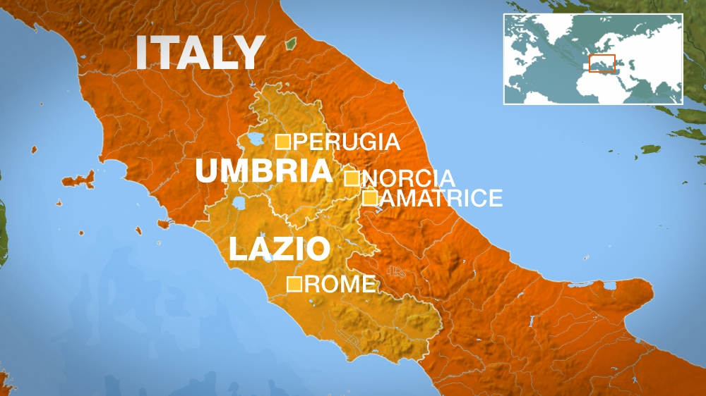 Powerful Quake Hits Central Italy Hundreds Dead News Al Jazeera