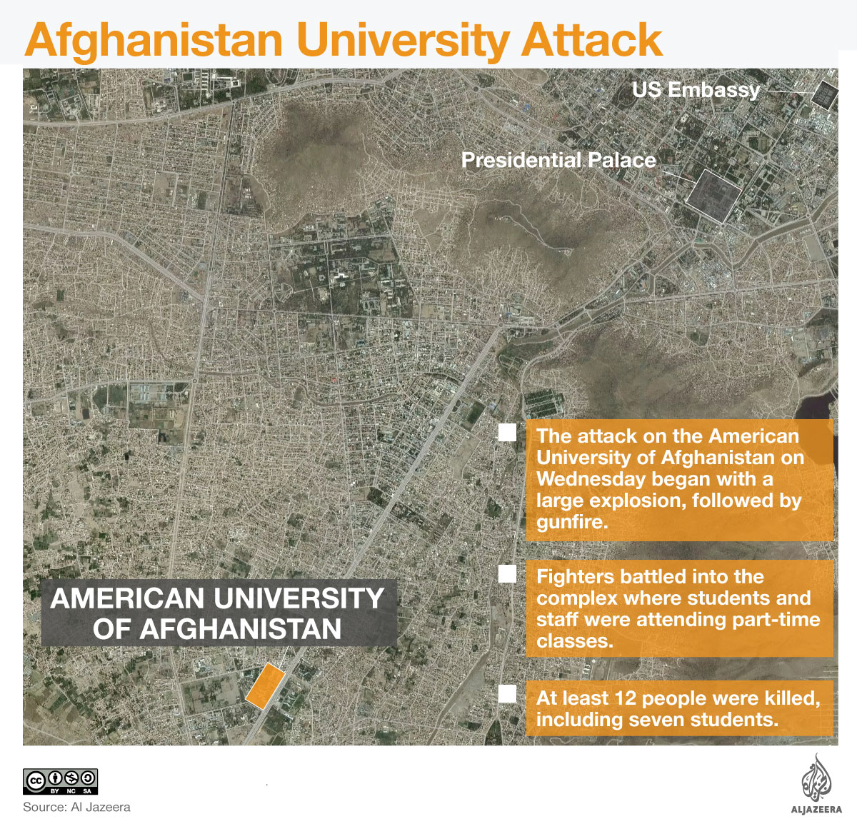 Afghanistan university attack infographic
