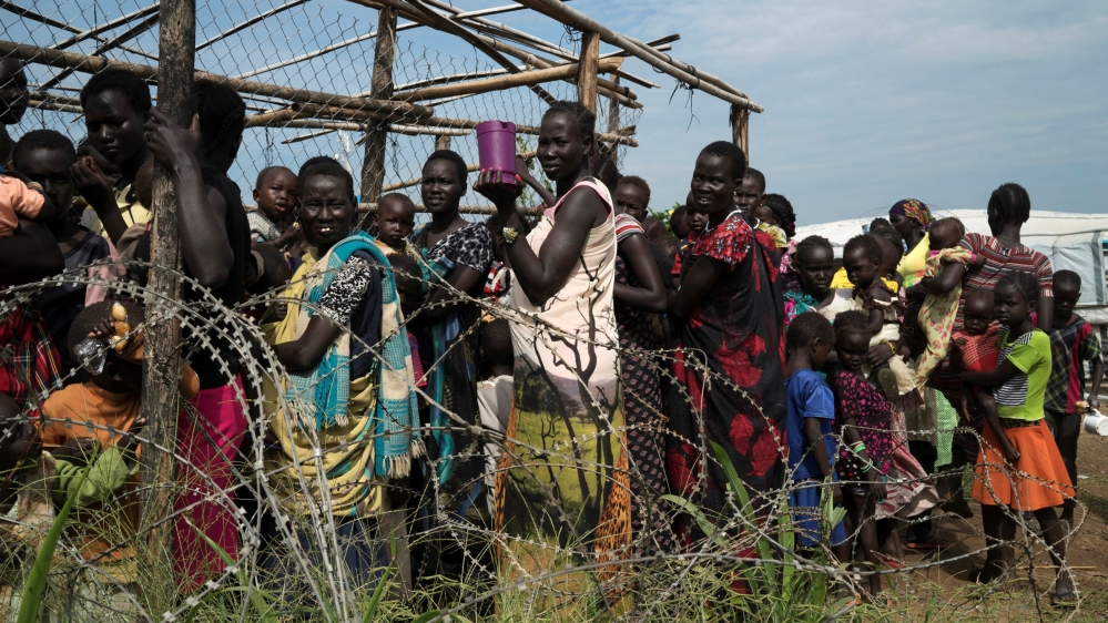 More than 70,000 South Sudanese have crossed the border with Uganda since fighting erupted last month.