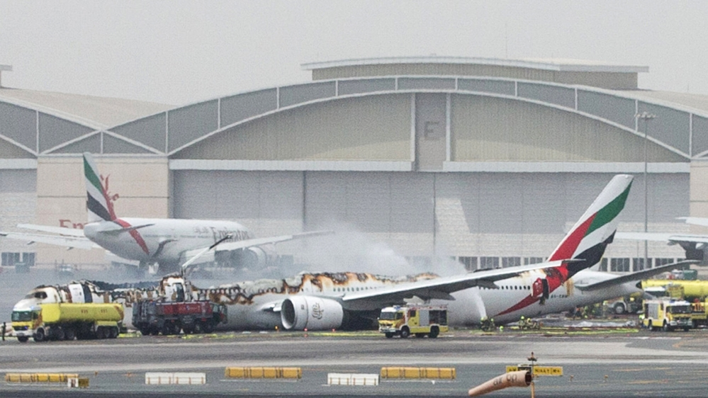 Emirates Airline Flight Crash Lands At Dubai Airport