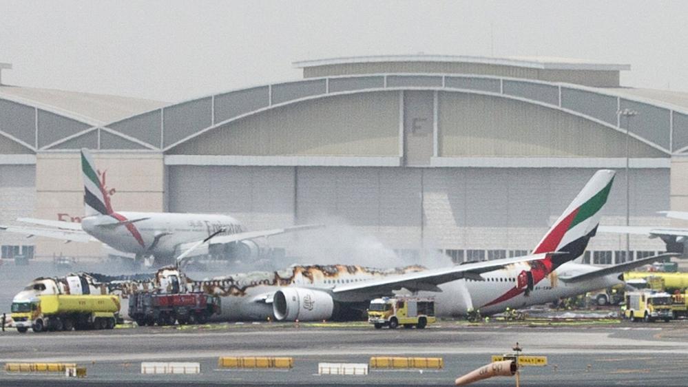 Emirates Airline Flight Crash Lands At Dubai Airport