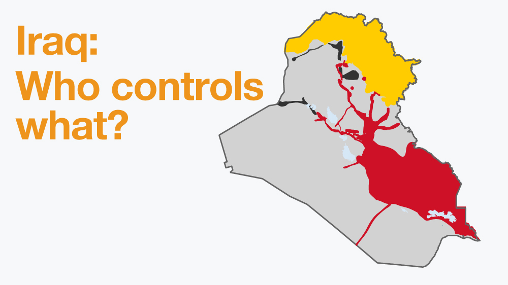Iraq war map Who controls what ISIS – Map If Iraq