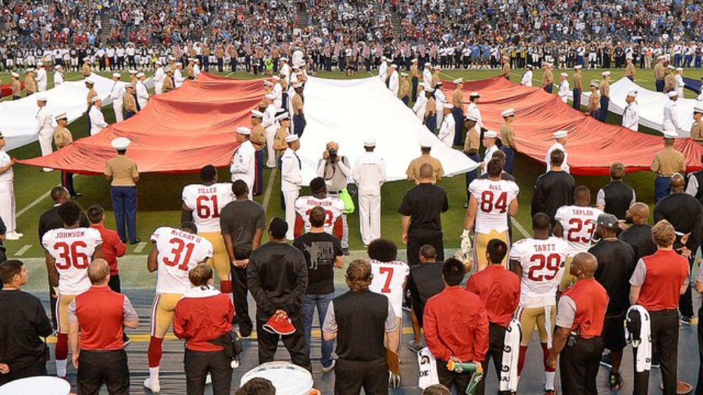 More Black American Footballers Join Inequality Protest