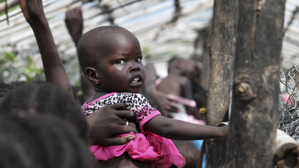 """Nearly half of the war-torn country is facing """"catastrophic"""" food shortages, aid group warns."""