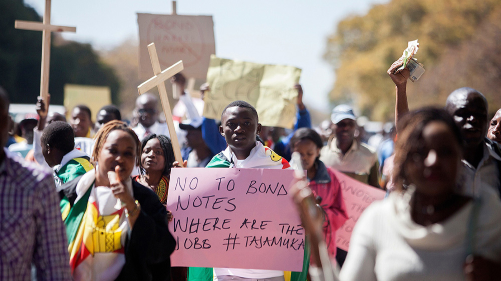 Hyperinflation fears as Zimbabwe is set to begin using notes issued by its own reserve bank for first time since 2009.
