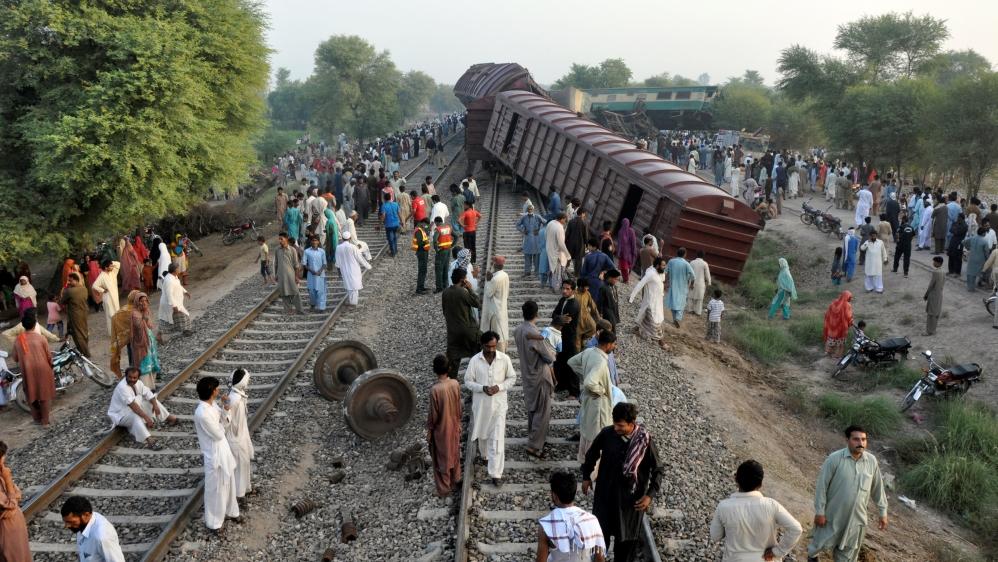 Image result for images of Pakistan Train Collision Kills Nine