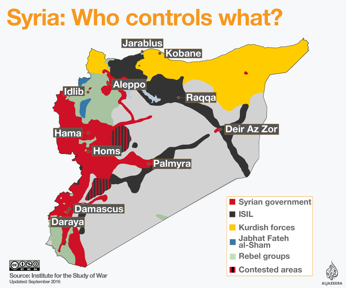 Syrias War US Suspends Ceasefire Talks With Russia Aleppo News - Us russia map