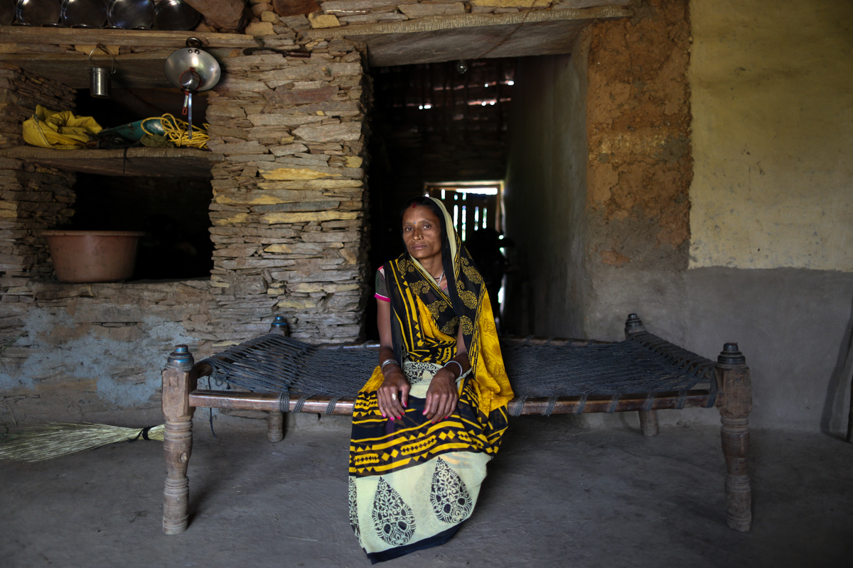 'I got married when I was 15 years old,' says Leela Damor, who is now 27. 'My husband was an alcoholic and he used to beat me every night. I left him and went to my parents' home for one year and it was then that I met Babu Lal.' Babu Lal's first wife had committed suicide. Leela agreed to enter into Nata with him. [Showkat Shafi/Al Jazeera]