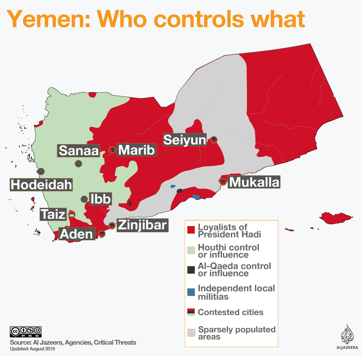 yemen civil war map