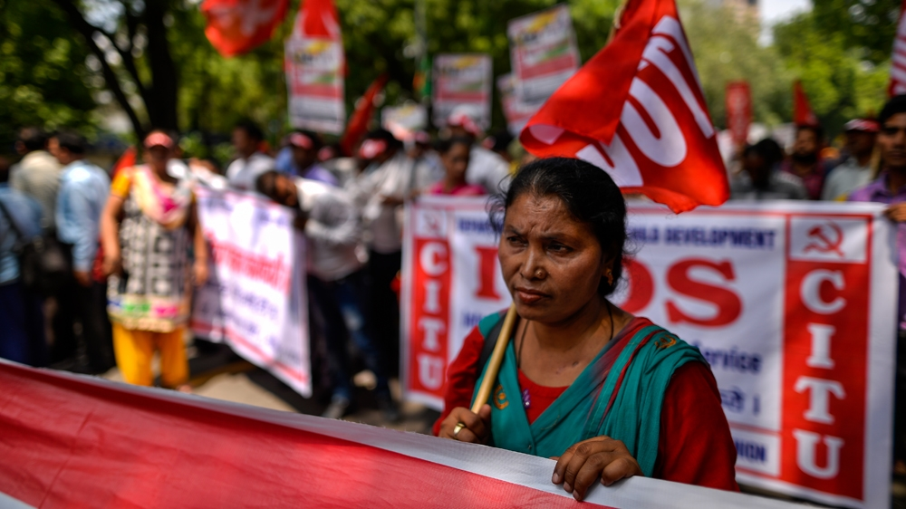 Millions of Indian workers strike for better wages | India ...
