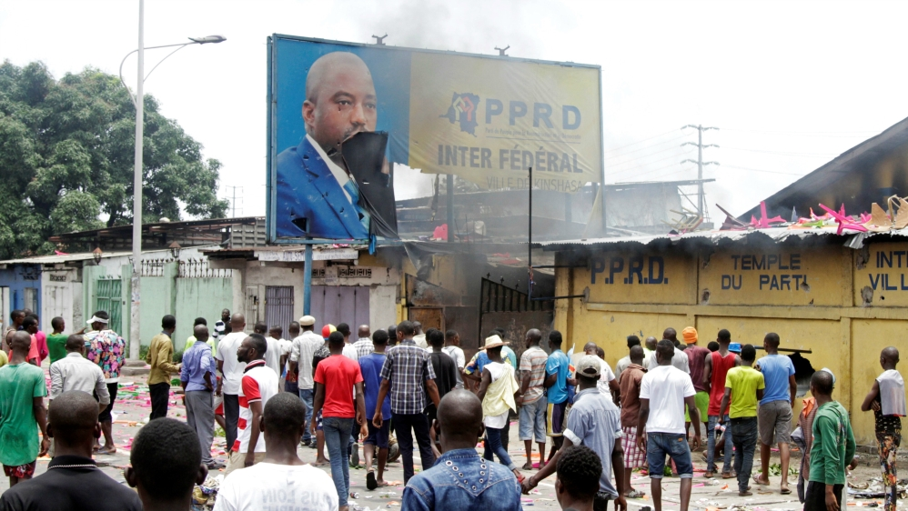 Violence escalates in DR Congo following allegations that President Joseph Kabila is planning to remain in office.