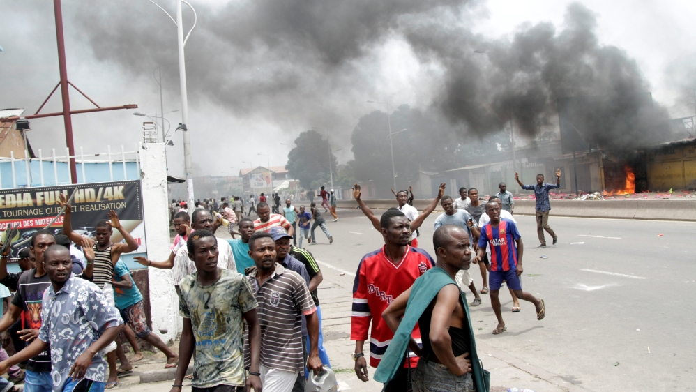 UN calls for calm after dozens killed in protests demanding the president steps down when his mandate ends in December.