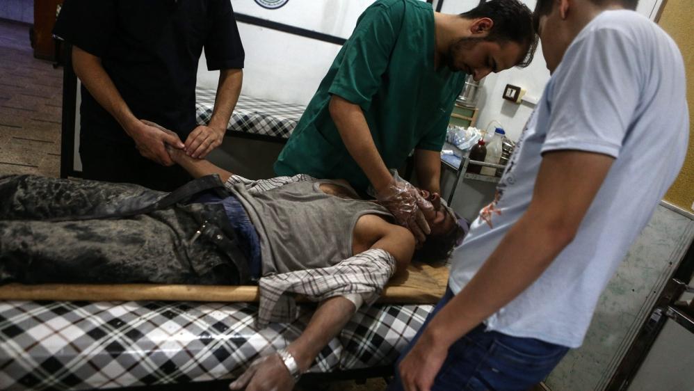 Aleppo: Bodies litter floor at makeshift hospital