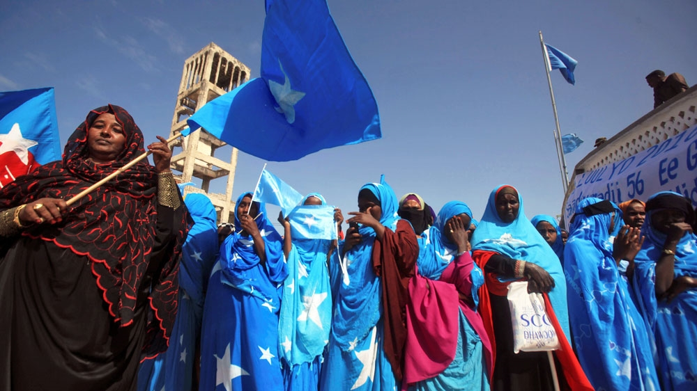 Somalia's Foreign Minister Abdusalam H. Omer blames delay on political issues and threats from al-Shabab armed group.
