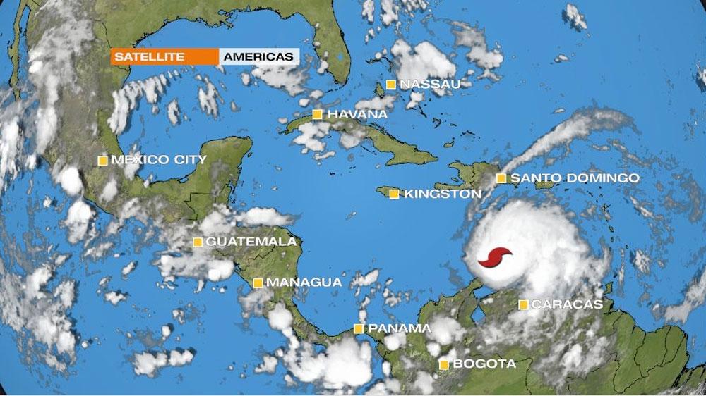 Hurricane Matthew barrels into the Caribbean