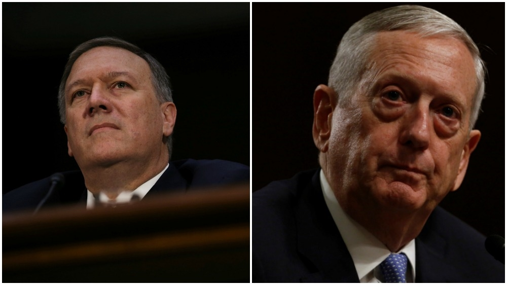Donald Trump picks Mattis and Pompeo take aim at Russia