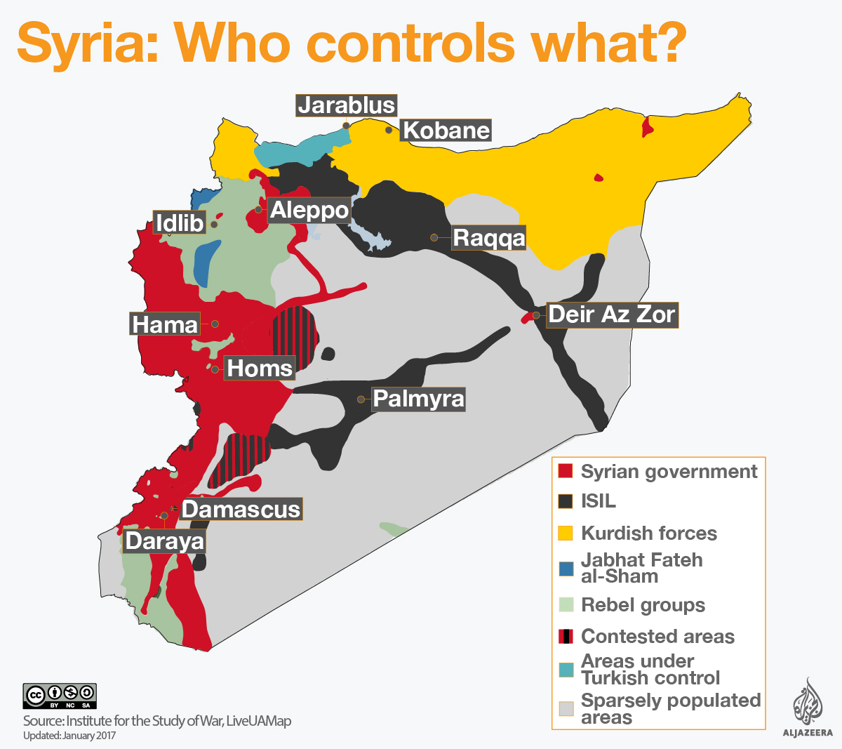 syria who controls what map