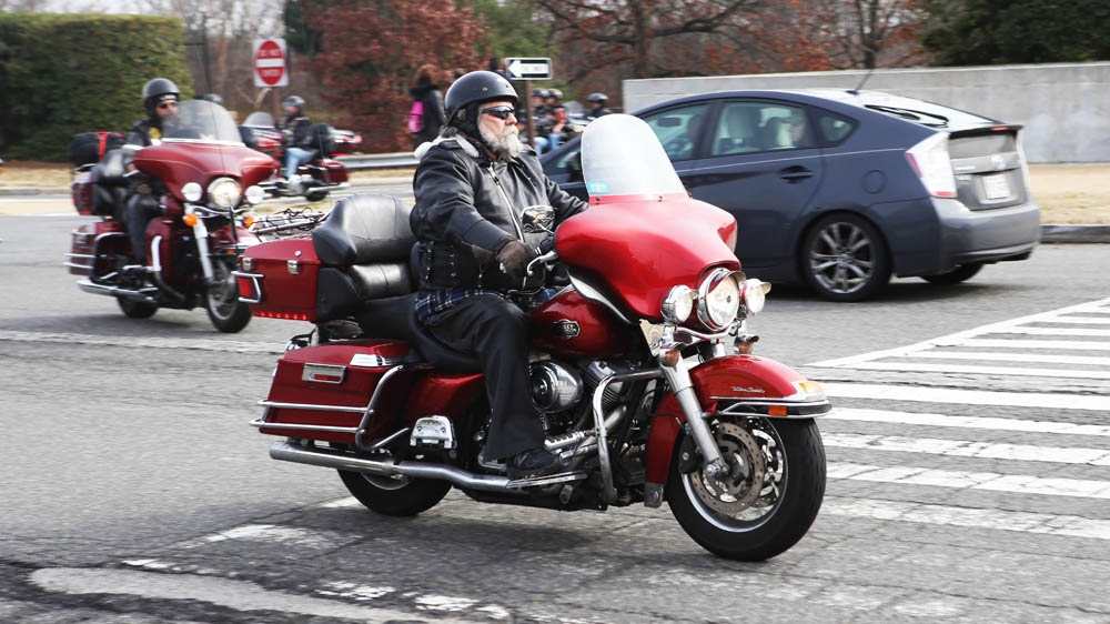 Bikers for Trump arrive for inauguration with fanfare | USA