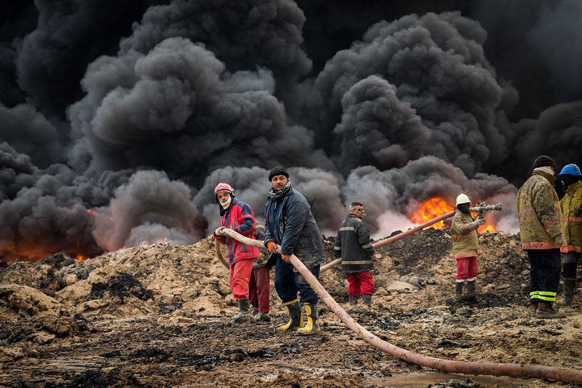 Qayyarah油田大火六个月无法扑灭 - wuwei1101 - 西花社