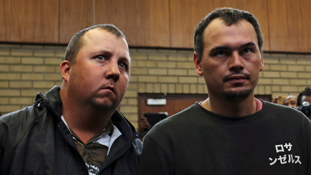 Image result for Two South Africans sentenced to 25 years imprisonment for forcing a black man into a coffin