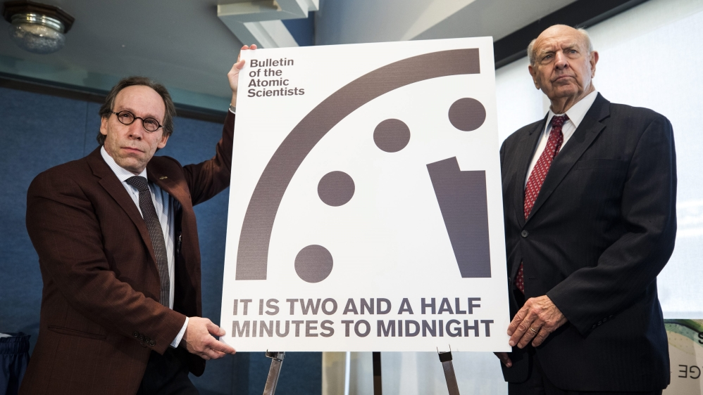 Doomsday clock adjusted partly due to donald trump news al