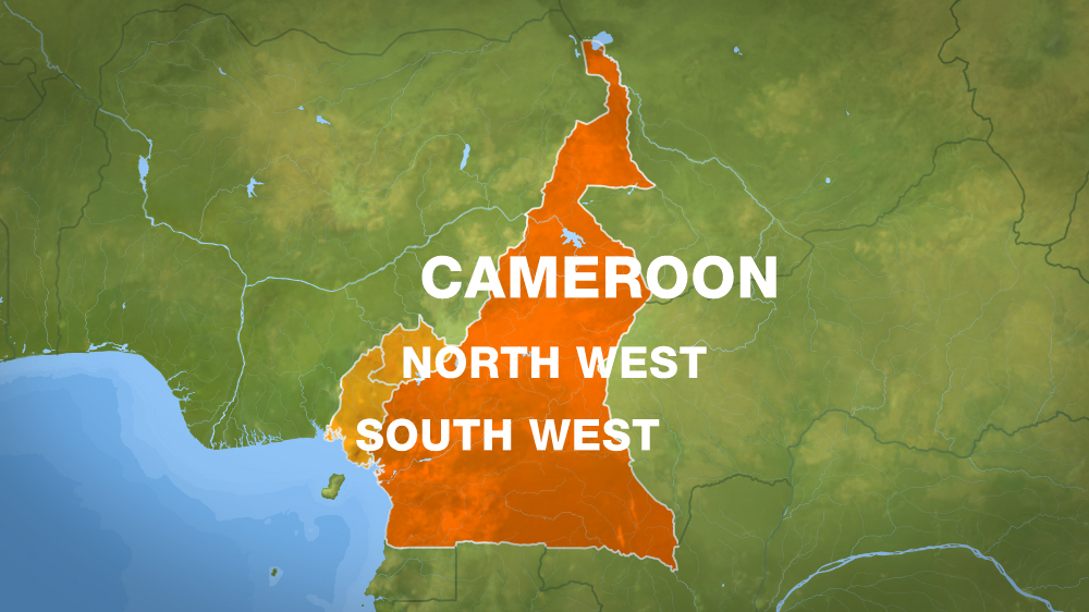 cameroon map south-north-west english speaking areas