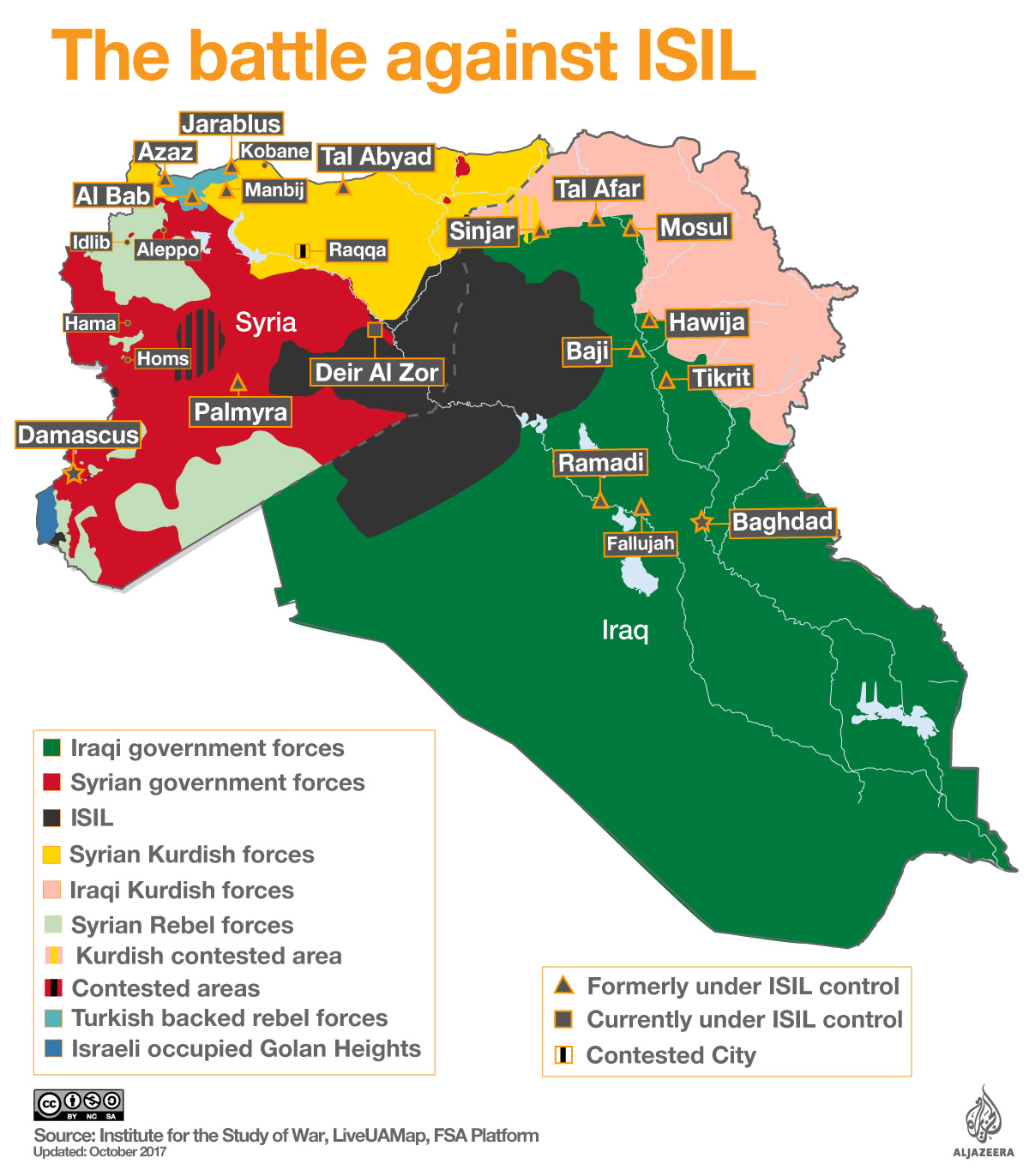map of isil control in syria and iraq al jazeera