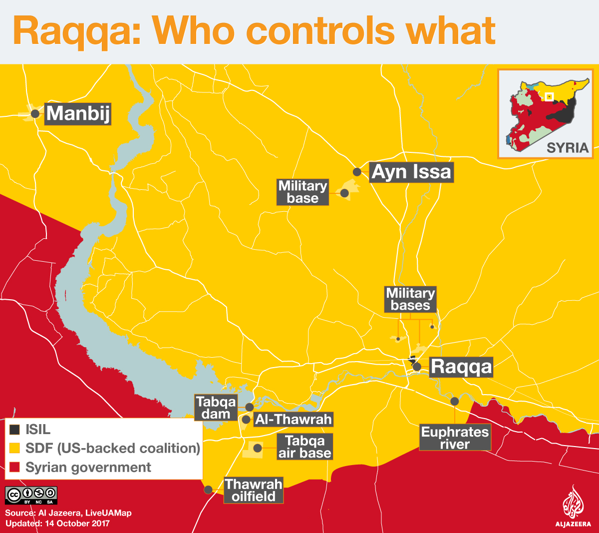 The battle for Raqqa Who controls what ISIS Al Jazeera