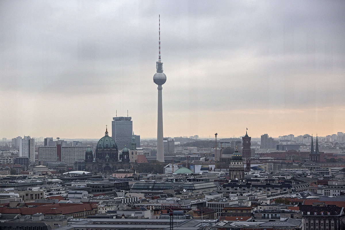 Berlin, seen on a cool and cloudy day, with a maximum temperature of just 10C. [Omer Messinger/EPA-EFE]