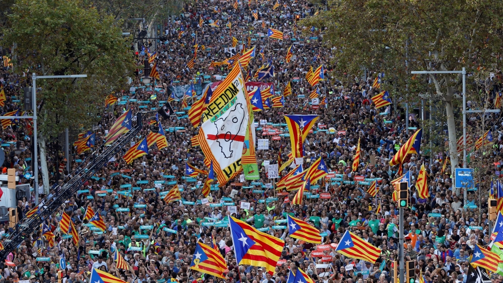 Which other regions want to secede from Spain?