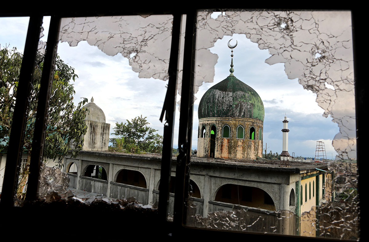 This mosque was the site of one of the first battles between ISIL and government forces in Marawi, southern Philippines, in May. As government forces retreated, the armed group took over the city. [Steve Chao/Al Jazeera]