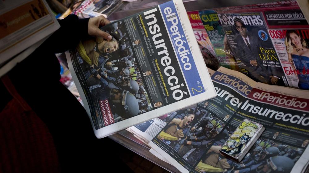 Spain's media spin on Catalonia