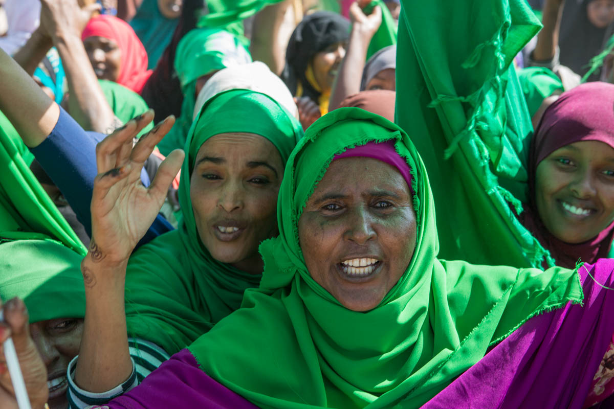 When asked why she supports UCID, Fardus, 48, replies: 'This is the party without tribalism. It stands for religion and justice.' Women turned out in large numbers to the city's campaign rallies. [Kate Stanworth/Saferworld/Al Jazeera]