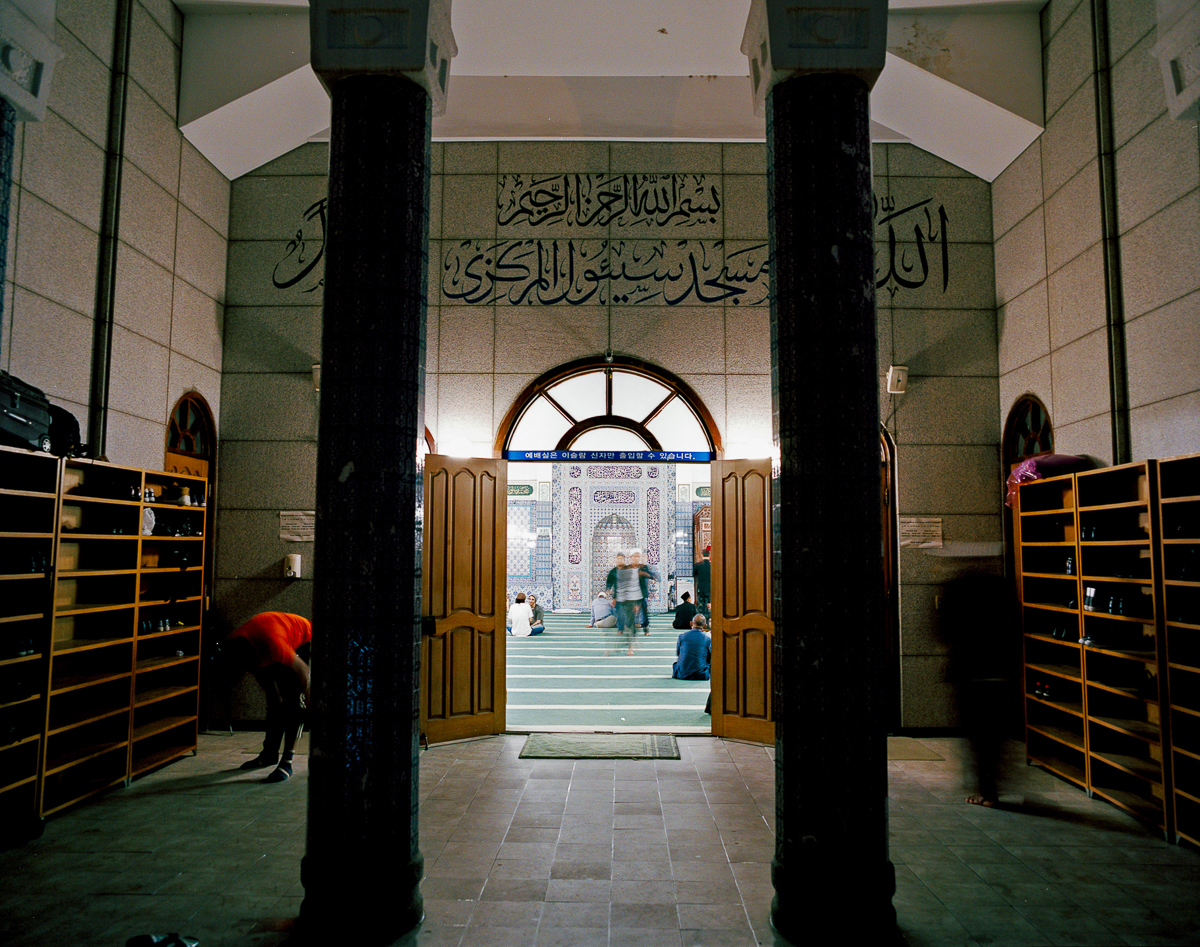 Built in Seoul's Itaewon neighbourhood, the Seoul Central Masjid opened on May 21st, 1976, thanks in part to donations from Malaysia and the cooperation of the Korean government, which gave away the land that it was built upon. [Radu Diaconu/Al Jazeera]