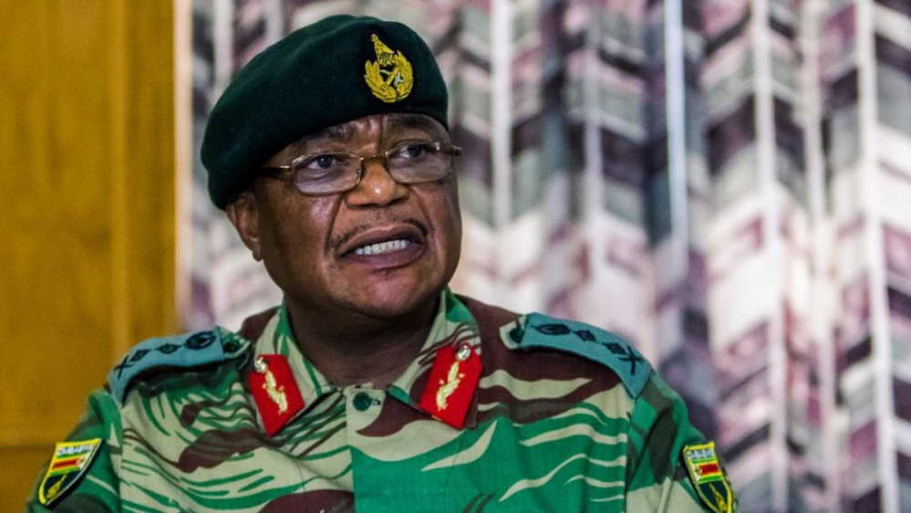 Zimbabwe 'on edge' after army chief threatens coup