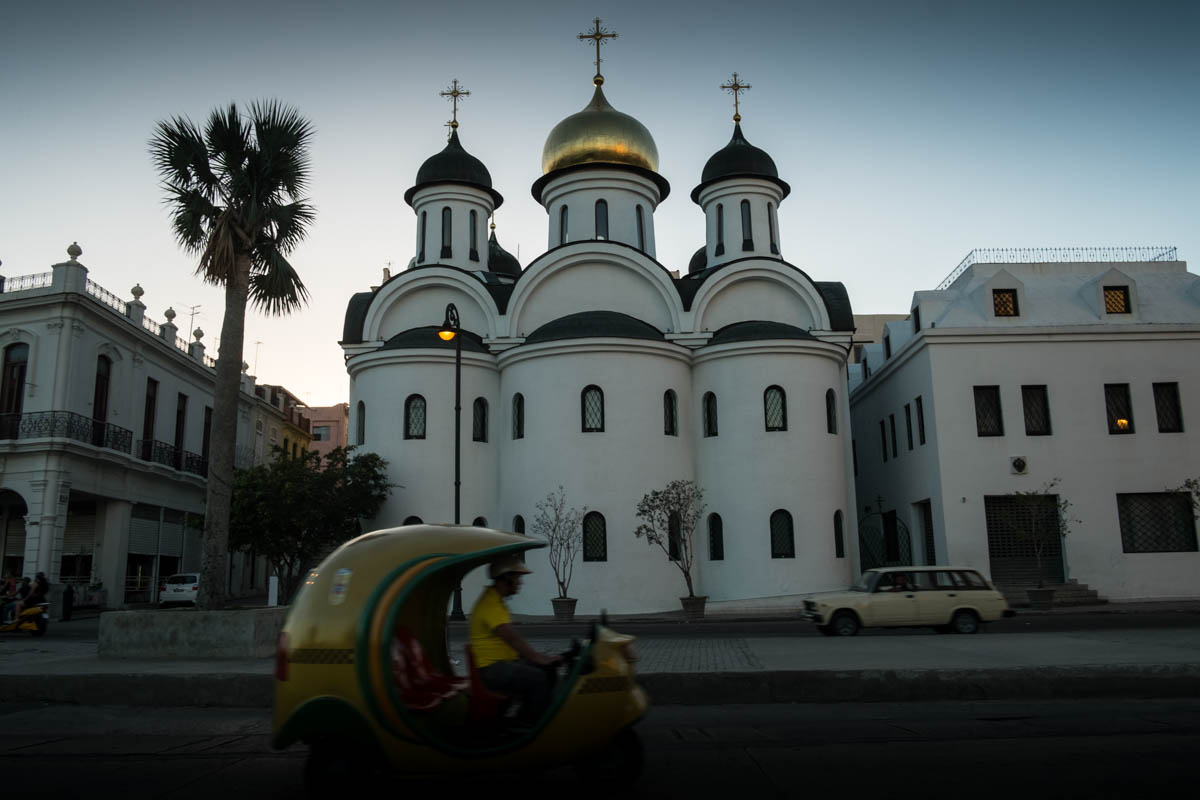 As a symbolic monument to the Cuban-Russian friendship, the Russian Orthodox Church Nuestra Senora de Kazan was inaugurated in 2008. [Ura Iturralde/Al Jazeera]