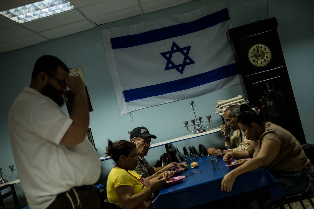 Yacob is the spiritual guide of the only Orthodox synagogue in Cuba, Adath Israel. [Ura Iturralde/Al Jazeera]