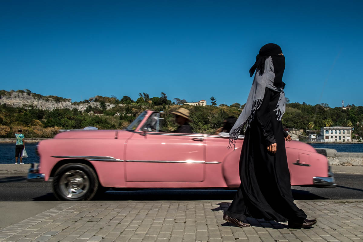 Aminah, born and raised in Cuba, converted to Islam many years ago. She is one of the few women on the island who wears a niqab. [Ura Iturralde/Al Jazeera]