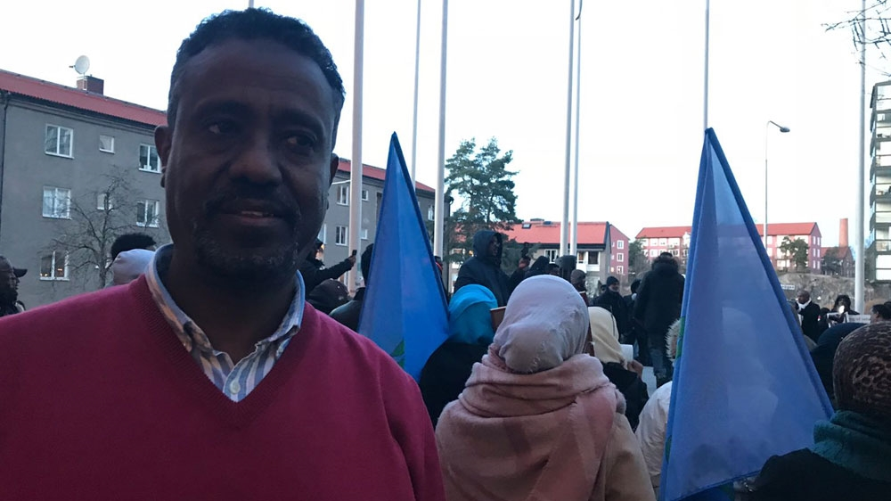 Eritrean diaspora stages protest in the Swedish capital