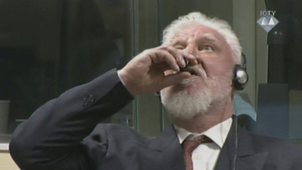 Slobodan Praljak died after taking cyanide in court