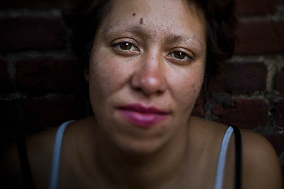 Alicia Adara, 33, on September 27 in Seattle. Adara said she ended up on the street after losing a custody fight for her two children with her ex-husband.'I don't do shelters. I feel like I'm in jail,' she said.'I've been like basically a prisoner all my life. I need to do this. I need to be out here. It's freedom.' [Jae C. Hong/AP Photo]